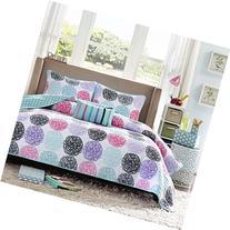 Mi-Zone Carly Full/Queen Girls Quilt Bedding Set - Teal,