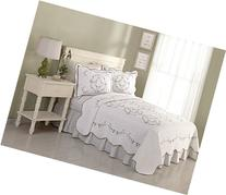Modern Heirloom Collection Carlota Embroidered Cotton Quilt