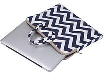 Mosiso Chevron Style Canvas Fabric Laptop Briefcase Handbag