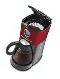 Mr. Coffee BVMC-VMX36 12-Cup Programmable Coffeemaker, Red/