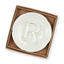 Mud Pie Boxed Initial Accessory Dish-R