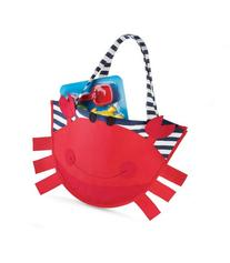 Mud Pie Surf's Up Beach Bag with Toys, Crab