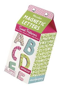 Mudpuppy Sweet Patterns Uppercase Letters Wooden Magnetic