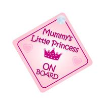 Mummy Little Princess On Board Car Sign New Baby / Child