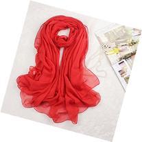 Museya 180*150cm Womens Long Soft Silk Scarf Shawl Stole