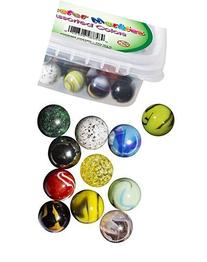 My Toy House shooter Marbles, Set of 12, 1-inch, Assorted