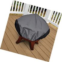 "NEH Patio Round Fire Pit Outdoor Cover 44"" Diameter Dark"