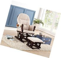 Naomi Home Brisbane Glider & Ottoman Set with Cushion in