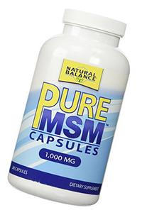 Natural Balance 1000 mg Pure MSM Nutritional Supplement, 240