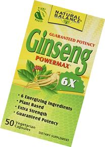 Natural Balance 2000 mg Ginseng Powermax 6x Herbal