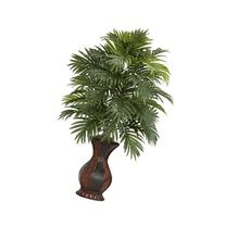 Nearly Natural 6661 Areca Palm with Urn Decorative Silk