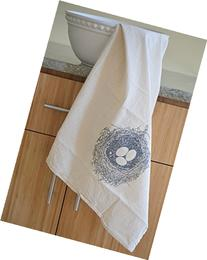 Nest Flour Sack Towel in Grey - Woodland Tea Towel - Flour