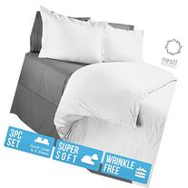 Nestl Bedding Microfiber Duvet Cover 3 Piece Queen