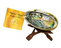 "New Age Smudges and Herbs Abalone Shell 5-6"" & 6"" Wooden"