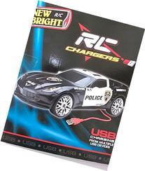 New Bright R/C Police Car Full Function Radio Control USB