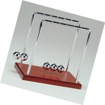 Newton's Cradle with Metal Frame, Balls and Wooden Base - 5.