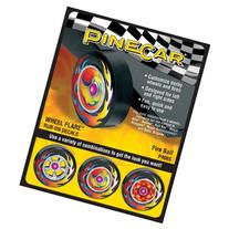 Neww Pine Car Derby Wheel Flare Rub-On Decals-Fire Ball Neww