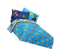 Nintendo 72 by 86-Inch Super Mario Fresh Look Comforter,