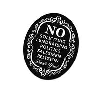 No Soliciting Sign for Home and Business | Stylish Laser Cut