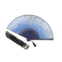 "OMyTea® ""Sakura Love"" 8.27"" Folding Hand Held Fan - With a"