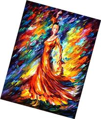 ORANGE FLAMENCO is an Original Oil Painting on Canvas by