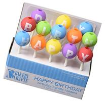 Oasis Supply Happy Birthday Letter Candle Holders with