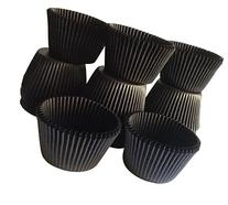 Oasis Supply Jumbo Baking Cups, 100-Count, Solid Black