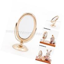 Odoria 1:12 Miniature Golden Mirror for Dresser Dollhouse