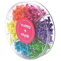Decorative Multi-Colored Push Pins for Home & Office, Six