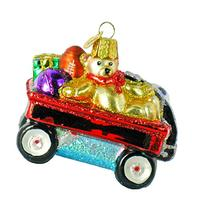 Old World Christmas Toy Wagon Glass Blown Ornament