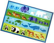 """Olive Kids Endangered Animals 39"""" x 58"""" Rug"""