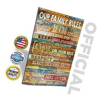 Marla Rae 12-Inch-by-18-Inch Country Wood Our Family Rules