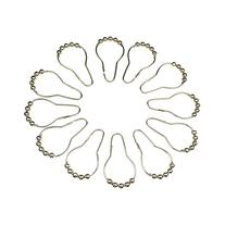 12pcs Curtain Rings Stainless Steel Polished Chrome Roller