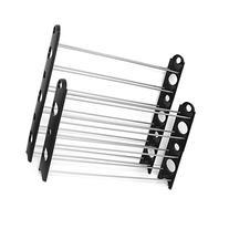 OxGord 50-Pair Shoe Rack Storage Organizer, 10-Tier Portable