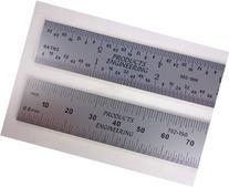 "PEC Tools 262-006 6"" Inch/MM USA Rigid Steel Rule, reads"