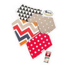 Elefuntot Bandana Drool Bibs 4 Pack Gift Set w/ Heat Sensing