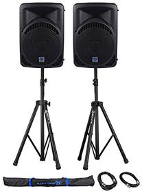 """Package:  Rockville RPG12BT 12"""" Active/Powered DJ/PA"""