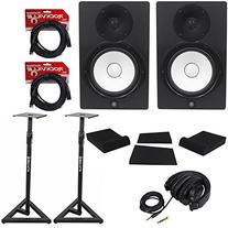 "Package:  Yamaha HS8 8"" Active/Powered 2-Way Bass-Reflex Bi-"
