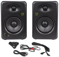 "Pair Rockville ASM5 5"" Powered USB Studio Monitors + Stands+"