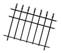 "Panacea Sectional Fencing With Finial 30 "" H X 37 "" W Steel"
