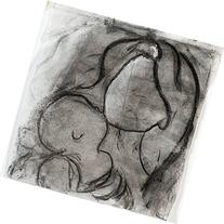 Paper Drawing - Mother and Child - Hand Drawn, High Q.,