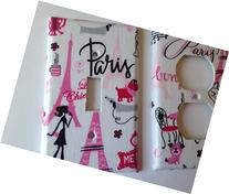 Paris Light Switch Cover - Various Size Switchplates Offered