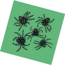 """Party902 - Strechy and Scary Plastic Spiders, 2"""", Made of"""