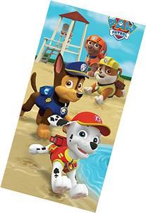Paw Patrol Beach Towel For Kids - Paw Patrol Puppy Run Theme