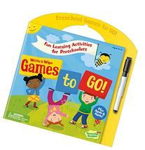 Peaceable Kingdom Preschool Write and Wipe Games to Go!