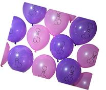 Peckerations Awesome Airheads Pink and Purple Party Balloons