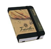 "Pentalic Traveler Pocket Journal Sketch, 4"" x 3"", Black"