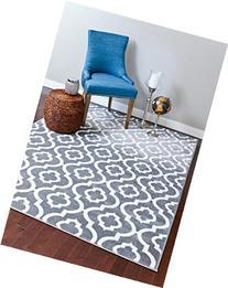Persian-Rugs Moroccan Trellis Area Rug Carpet, 5 x 7-Feet,