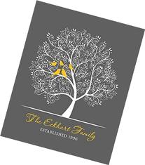 Personalized Family Tree, Wedding Anniversary Gift for