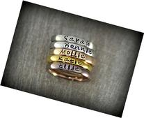 Personalized Stackable Name Ring - Stacking Rings - Matte,